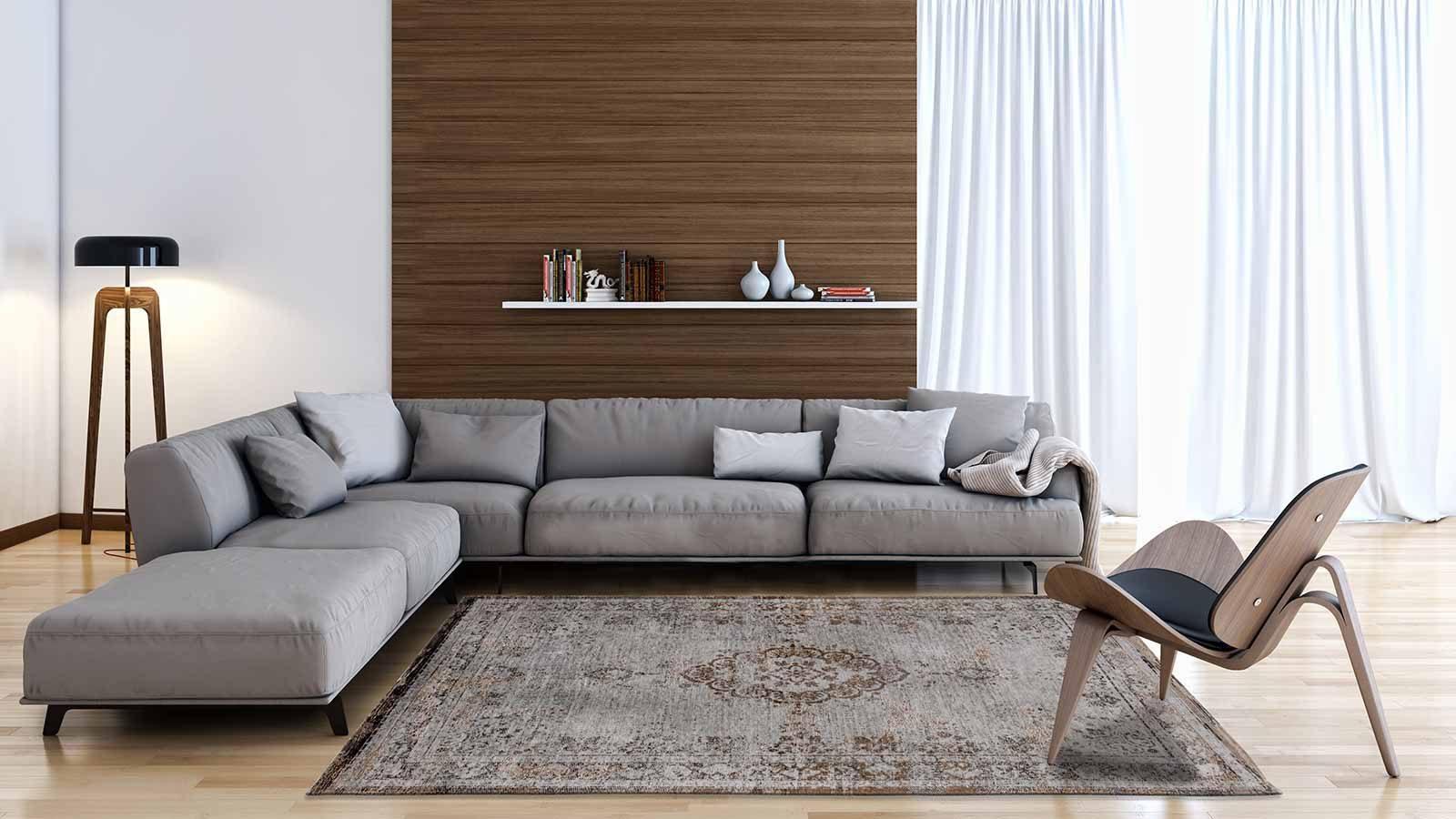 tapis Louis De Poortere LX8257 Fading World Medaillon Grey Ebony interior