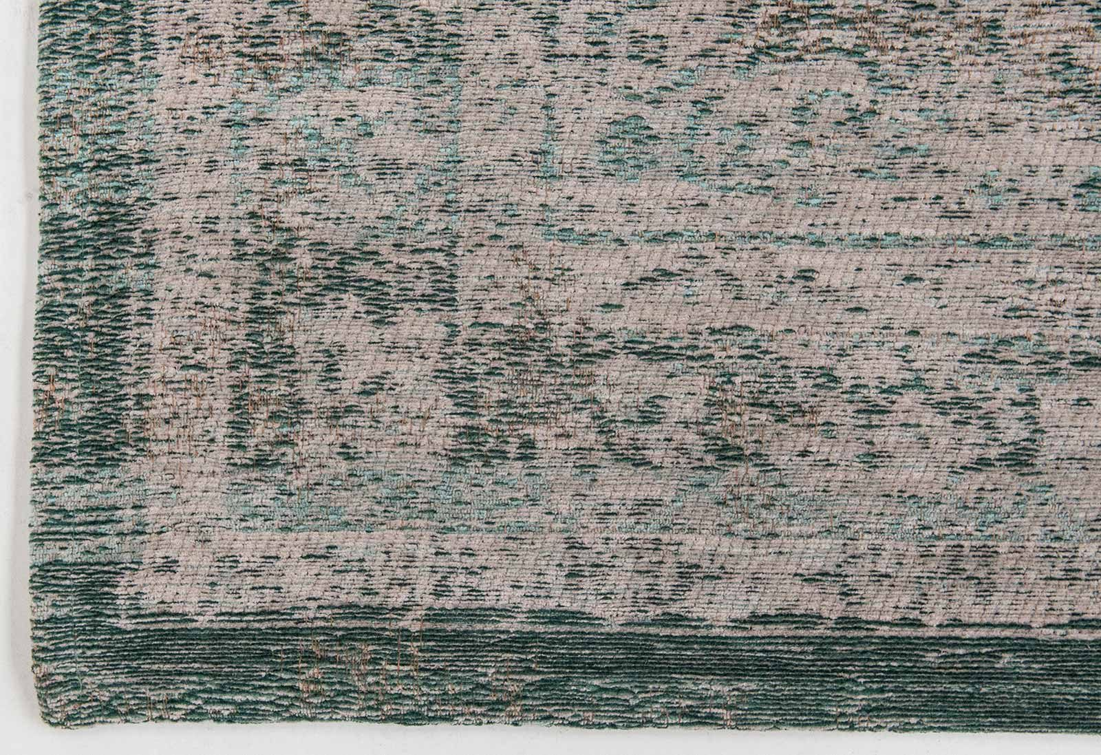 tapis Louis De Poortere LX8259 Fading World Medaillon Jade Oyster corner