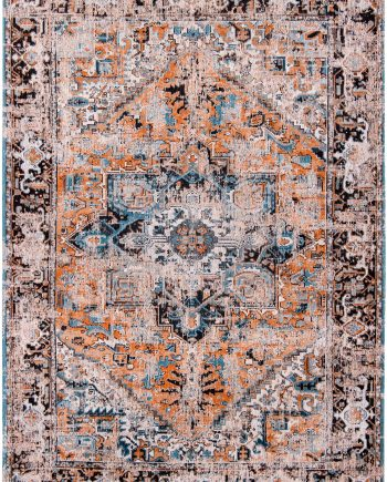 tapis Louis De Poortere LX8705 Antiquarian Antique Heriz Seray Orange