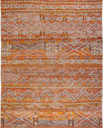 Louis De Poortere tapis CS 9111 Antiquarian Kilim Riad Orange