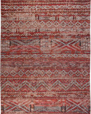 Louis De Poortere tapis CS 9115 Antiquarian Kilim Fez Red