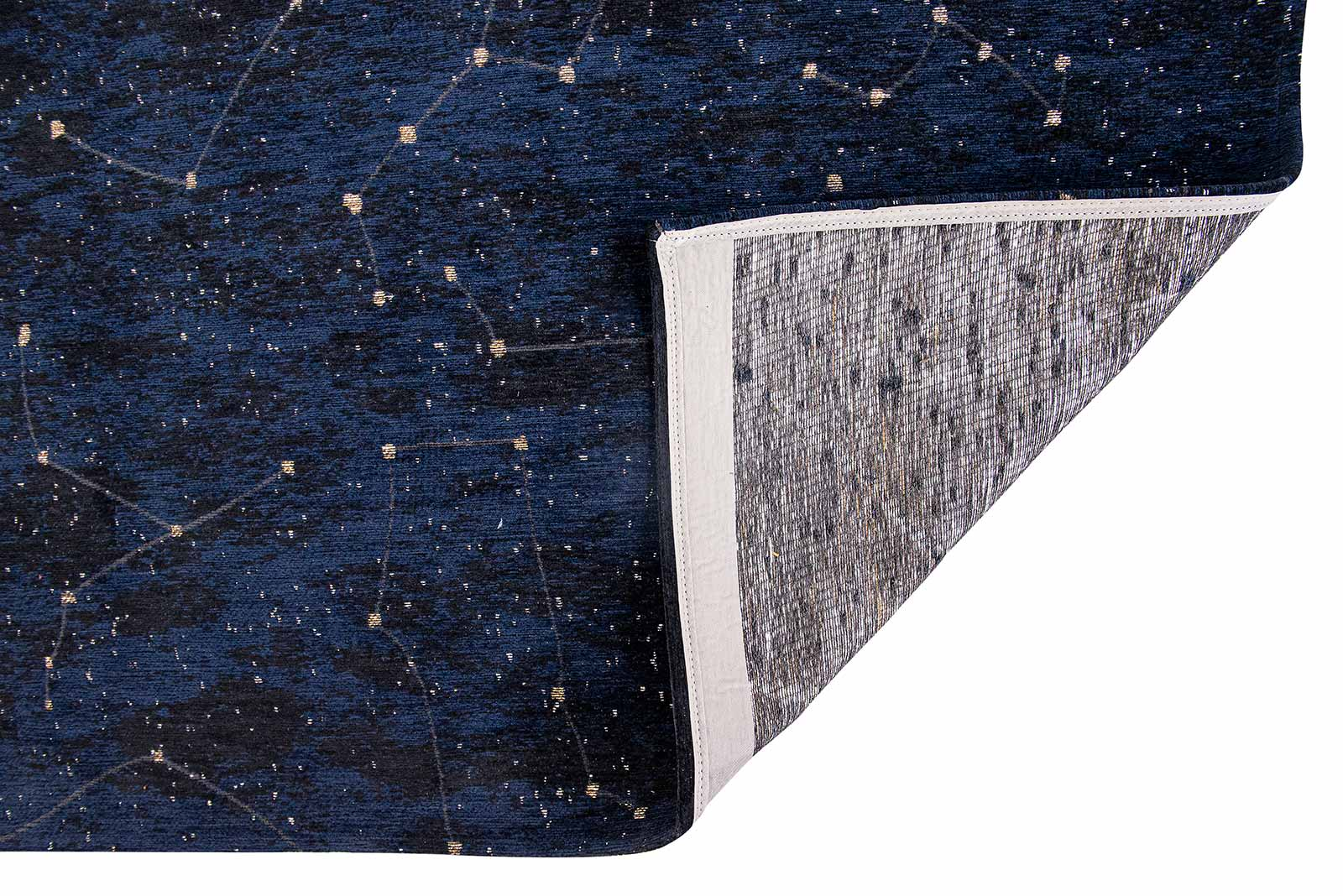 Louis De Poortere tapis Fischbacher 9060 Celestial Midnight Blue back