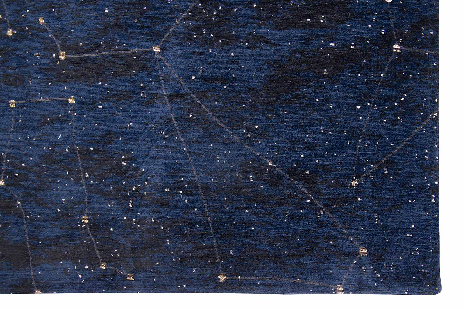Louis De Poortere tapis Fischbacher 9060 Celestial Midnight Blue corner