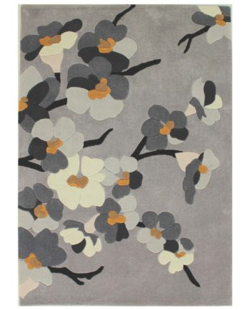 Andessi Tapis Bloom Grey Ochre 1