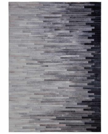Andessi Tapis Dakota Porter Grey Oblong 1