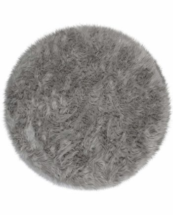 Andessi Tapis Faux Fur Sheepskin Circle Grey 1