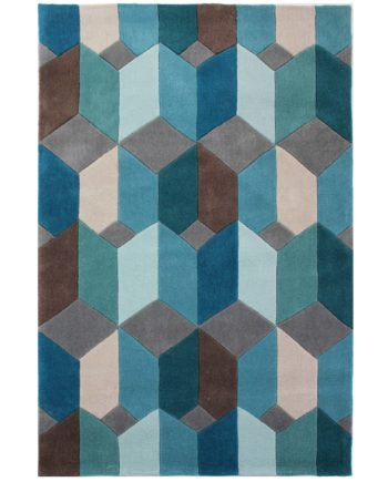 Andessi Tapis Opticco Teal 1